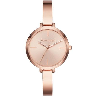 MICHAEL KORS質感晶鑽簡約時尚手錶(MK3735)-玫瑰金/36mm