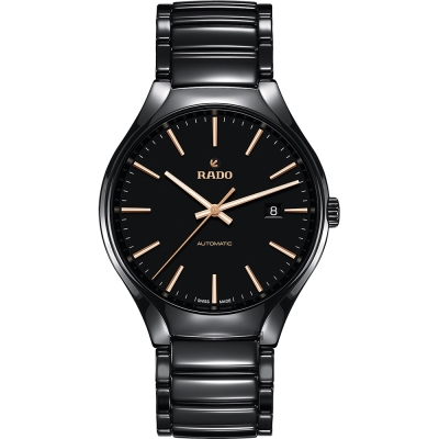 RADO雷達 真系列陶瓷機械錶(R27056162)-黑/40mm