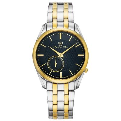 Olympia Star奧林比亞之星 經典都會系列小秒針時尚腕錶-黑/36mm