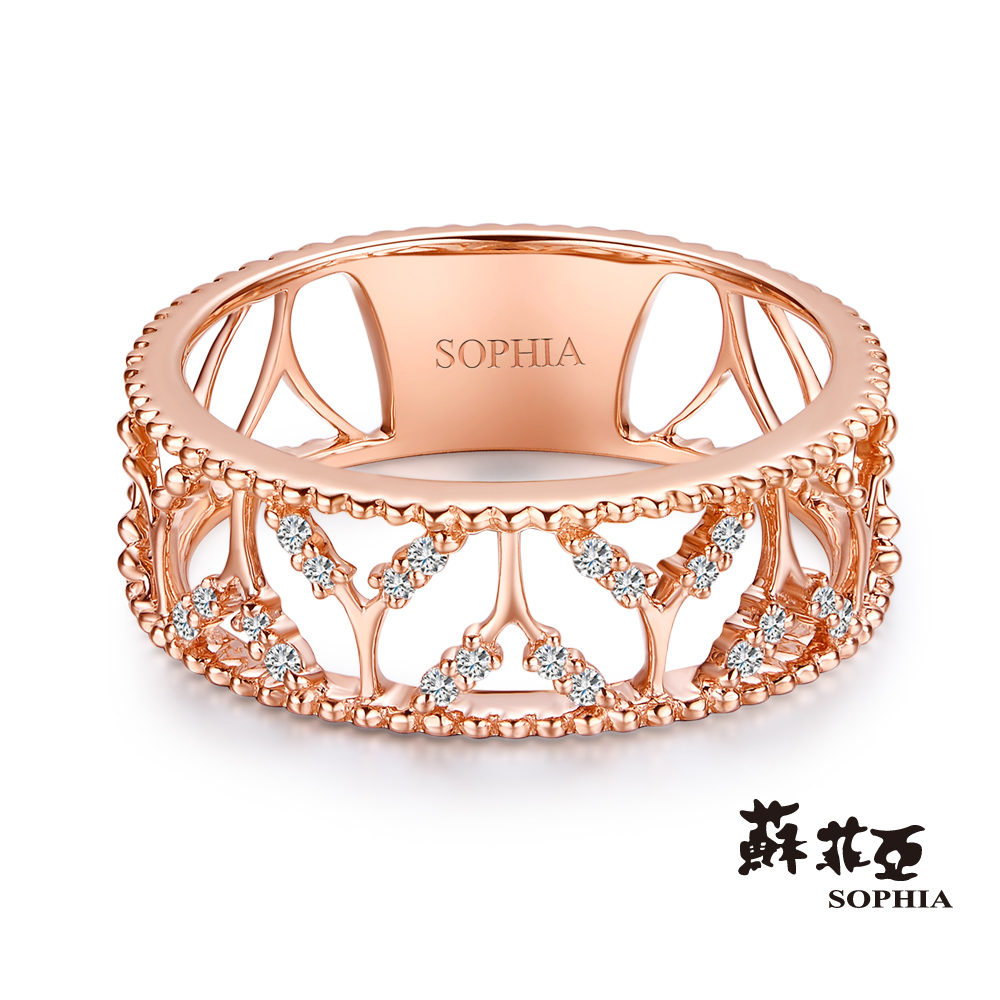 蘇菲亞SOPHIA - Romantic系列 鏤空鑽戒