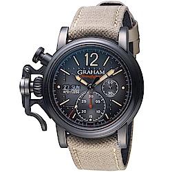 GRAHAM Chronofighter復古飛行限量腕錶(2CVAV.B18A.T38T)