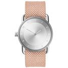 TID Watches No.2 銀x淡橘色真皮腕錶/36mm