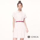 CHICA 清新復古學院風小圓點襯衫洋裝(2色)