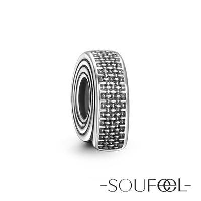 SOUFEEL索菲爾 925純銀珠飾 捲尺 定位珠