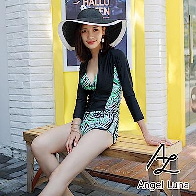 【AngelLuna】南洋三件式水母衣泳裝(日本直送3-10天到貨)