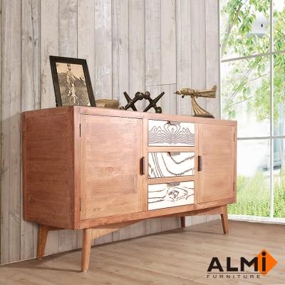 ALMI-SIDEBOARD 雙門三抽櫃W150*D45*H62CM