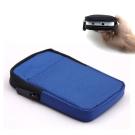 DataStone 3C多功能防震/防水軟布收納包(適2.5吋硬碟/行動電源/3C)-藍色