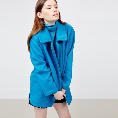 ICHE 衣哲 羊毛拉鍊造型大衣外套