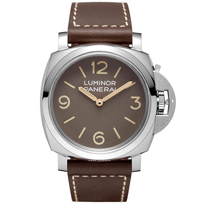 PANERAI沛納海 LUMINOR PAM00663 最新復刻版棕色面盤-47mm
