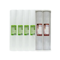 EssenPure水蘋果 高品質20英吋大胖 5微米PP濾心+CTO濾心(6支組)