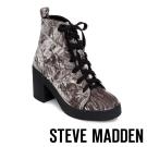 STEVE MADDEN-ABBY-GRY VELVET-厚底粗跟綁帶短靴-絨灰