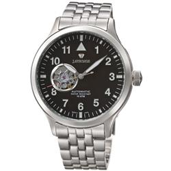 J.SPRINGS Semi-Skeleton自動上鍊機械錶-銀黑-42mm