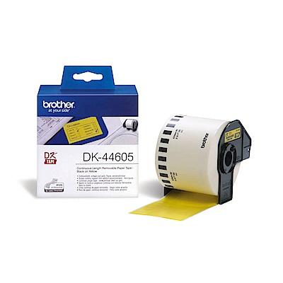 Brother DK-44605 連續標籤帶 ( 62mm  黃底黑字 ) 耐久型紙質