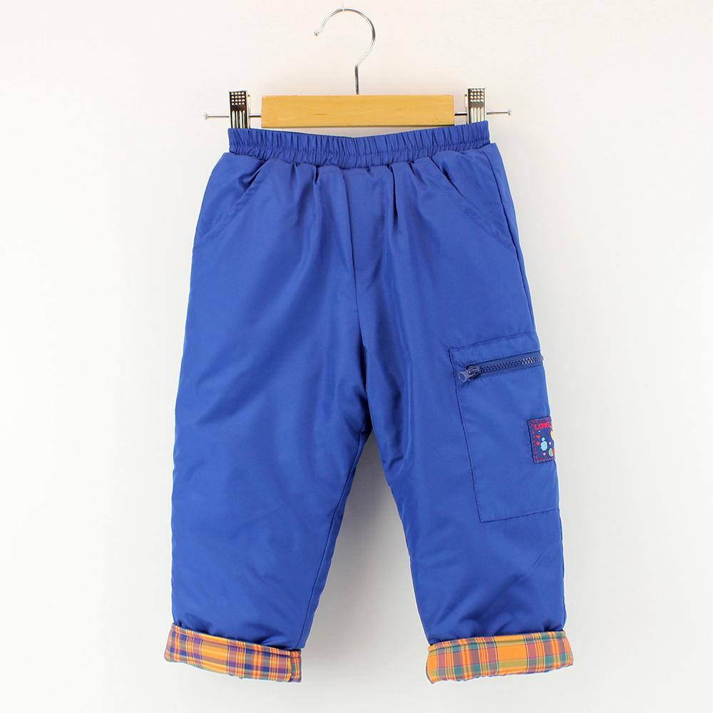 愛的世界 MYBEAR 防風搖粒絨拉鍊口袋長褲/2~4歲