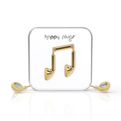 Happy plugs 音符耳塞式耳機 奢華限定款 金/銀