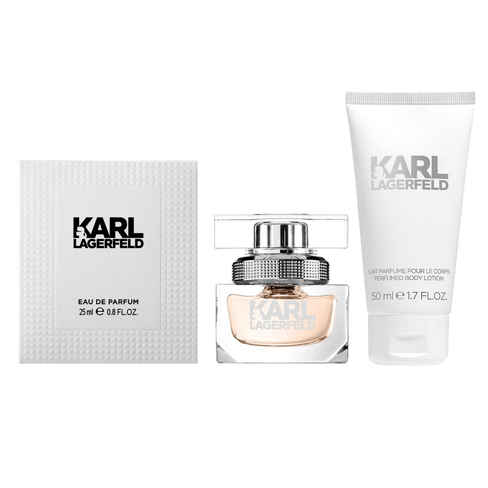 KARL LAGERFELD 卡爾同名時尚女性淡香精25ml(贈同名身體乳50ml)