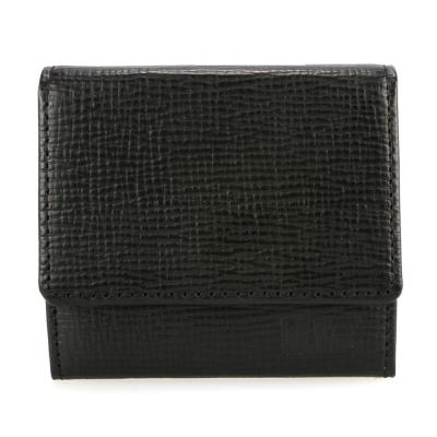 DAKS 防刮皮革壓扣多功能零錢包-黑色