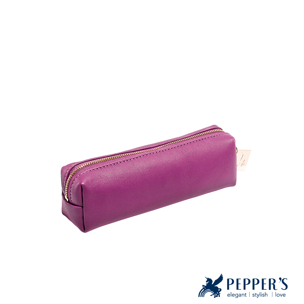 PEPPER`S Ellie 羊皮小吐司袋 - 桃紫
