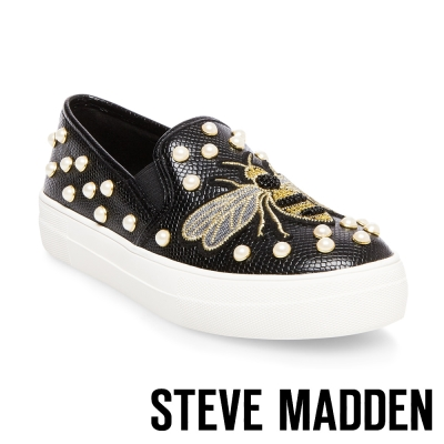 STEVE MADDEN-POLLY-BLACK-平底懶人鞋-黑色