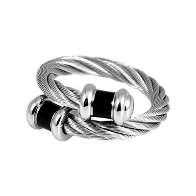 CHARRIOL 夏利豪 經典徹爾斯鋼索戒指