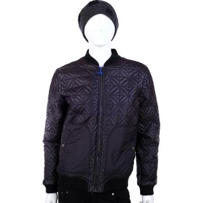 VERSACE 黑色格紋車線造型外套