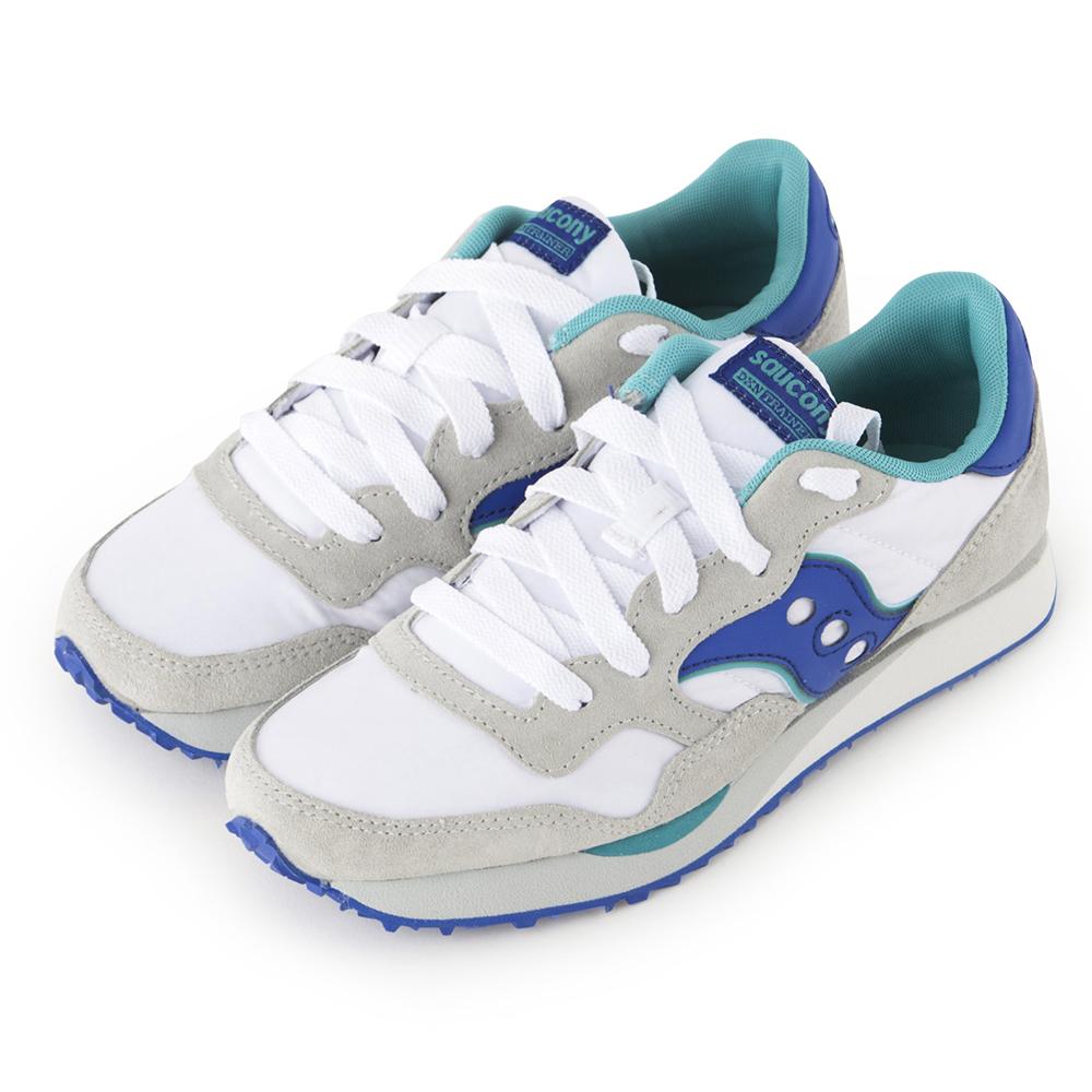 (女) 美國 SAUCONY 經典時尚休閒輕量慢跑球鞋-白藍
