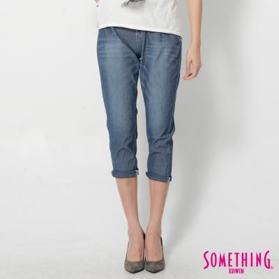 SOMETHING LADIVA 小泡褲牛仔褲-女-石洗藍