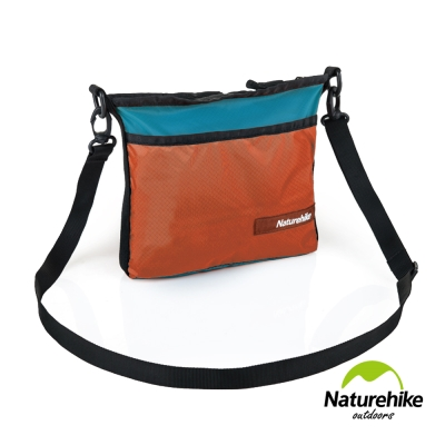Naturehike 20D休閒輕量防水拼色斜肩背包 防盜包 側背包 橙綠
