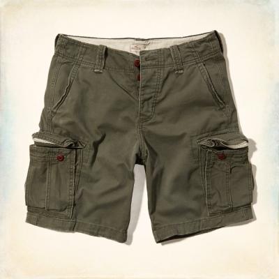 Hollister HCO 素色 短褲 綠色 204