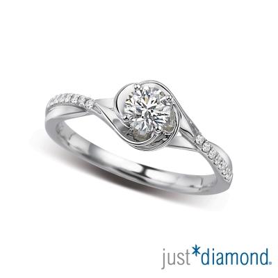 Just Diamond 30分18K金鑽石戒指-玫瑰漾戀