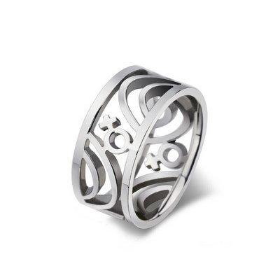 ACUBY PRIDE鋼製女女戒指