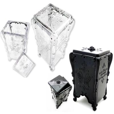 水晶蝴蝶抽取式 化妝棉收納盒