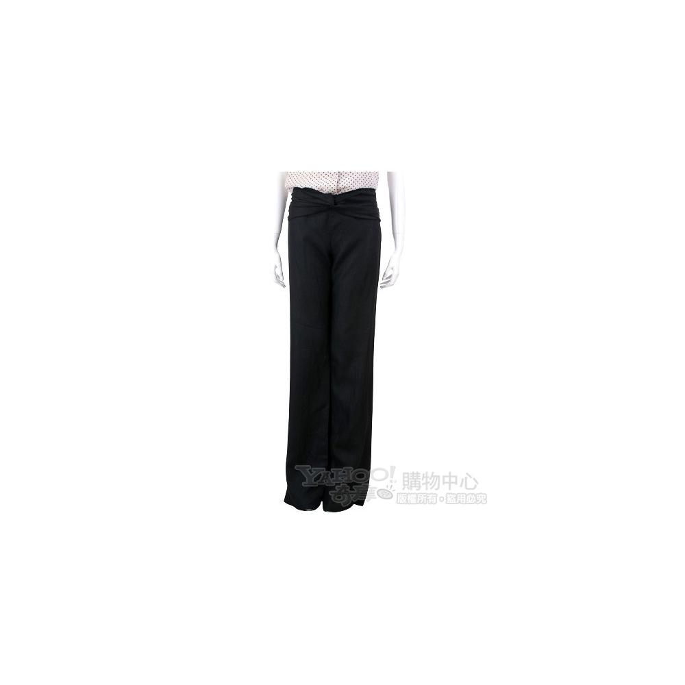 VALENTINO 黑色腰間抓皺長褲