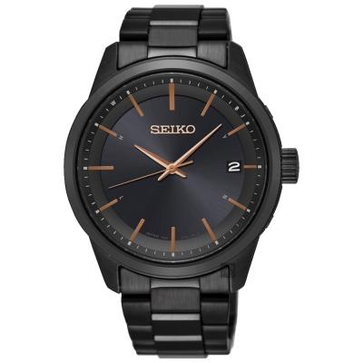 SEIKO精工 SPIRIT 太陽能電波錶(SPP003J1)-鍍黑/40mm
