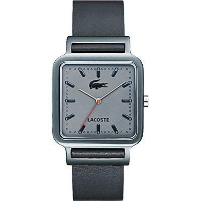 Lacoste 鱷魚 簡約潮流中性腕錶-灰/34mm