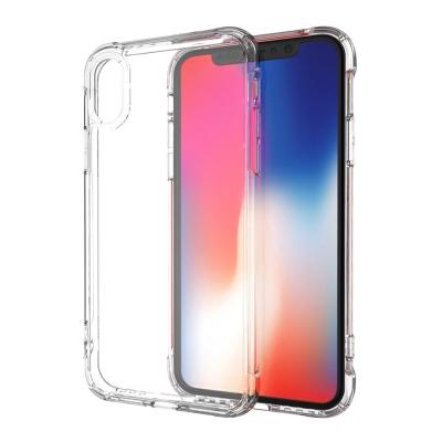 【極致防護】iPhone X 四角氣囊防摔TPU手機殼-透明