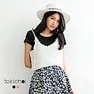 東京著衣 兩件式針織背心短袖上衣-S.M(共二色)