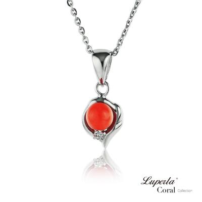 【大東山珠寶】全紅珊瑚閃耀項鍊墬飾 如意亨通