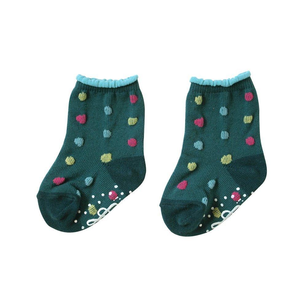 【NAOMI ITO】POCHO 粉彩波點短襪(綠)