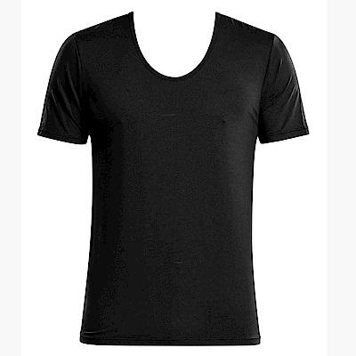 DADADO 基礎系列冰牛奶紗 M-LL 短袖背心(黑)