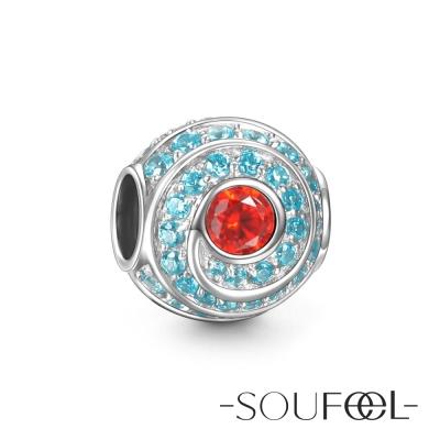 SOUFEEL索菲爾 925純銀珠飾 海洋漩渦 串珠