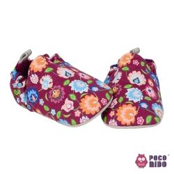 英國 POCONIDO 純手工柔軟嬰兒鞋 (藝術花朵)