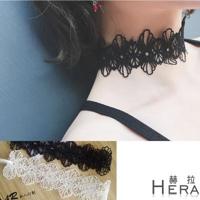 Hera 赫拉 絲簍空雕花短款項鍊/鎖骨鍊/頸鍊-2色
