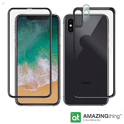 AMAZINGthing Apple iPhone X 正+背面滿版強化玻璃保護...