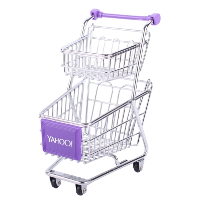 Yahoo! 迷你收納購物推車(雙層)套裝組100台