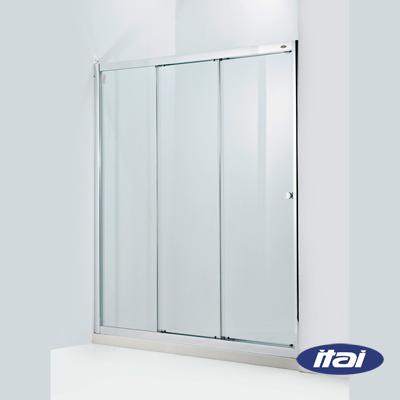 一太淋浴門-一字三門連動落地型(寬110~150cm x 高190cm範圍以內)