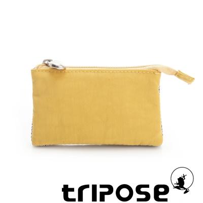 tripose 漫遊系列岩紋簡約微旅萬用零錢包 黃