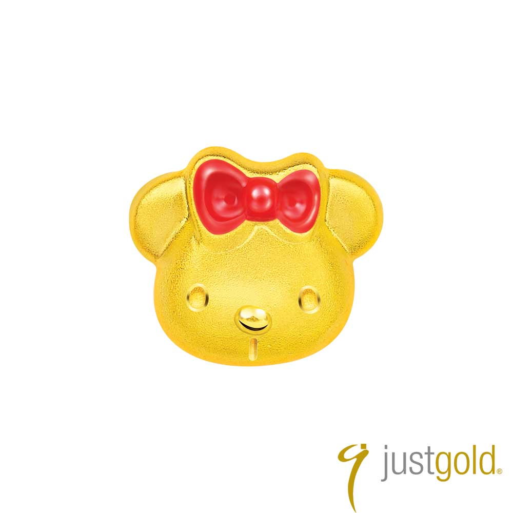 鎮金店Just Gold Kitty Bear 黃金單耳耳環