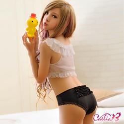 內褲 層層蕾絲內褲(黑) Caelia