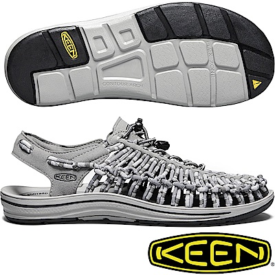 KEEN1018701鐵灰/迷彩 Uneek男專業戶外護趾編織涼鞋